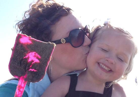 Mindy & Lana at the beach