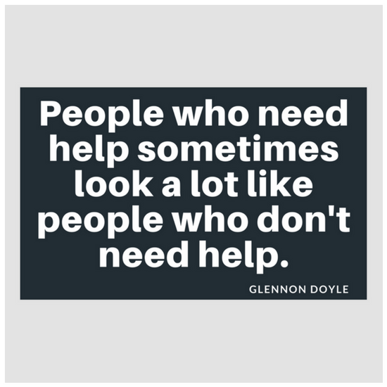 People Who Need Help Sometimes Look A Lot Like People Who Dont Need