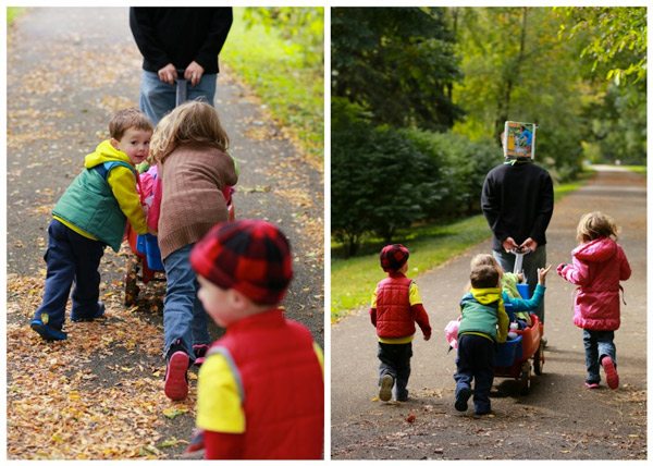 Kids and wagon