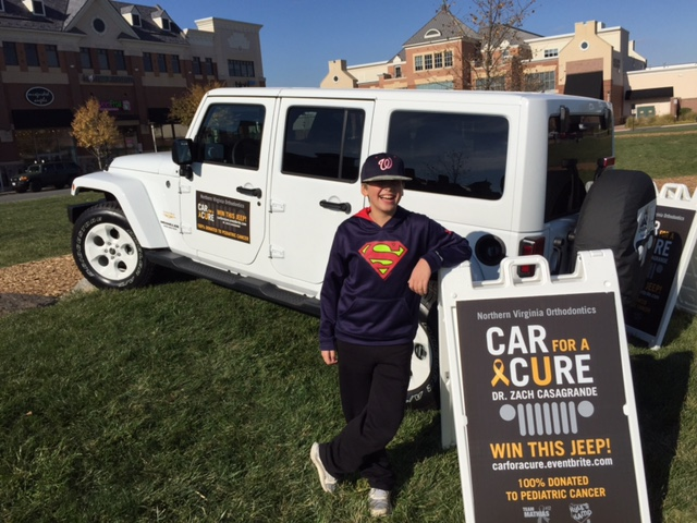 Here's Kyle from Kyle's Camp with the Jeep we could win!!