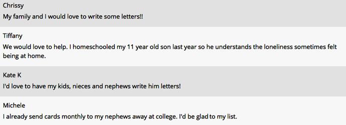 Letter responses