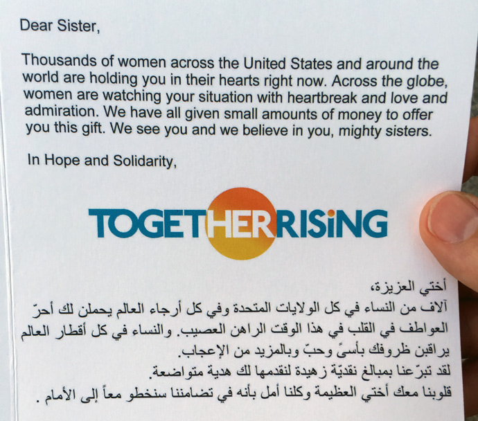Together Rising letter