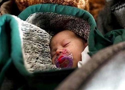 Bundled baby